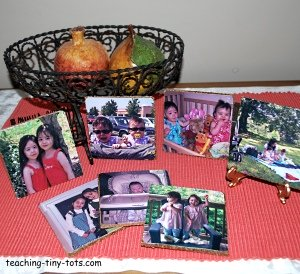 decoupage picture coasters
