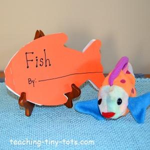 make a fish shape book