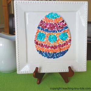 easter eggshell mosaic