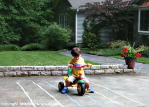 chalk racetrack