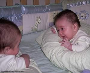 twins chatting