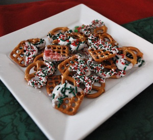 Christmas gift ideas chocolate dipped pretzels