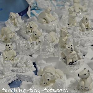 clay polar bears