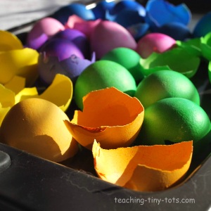 colored eggshells
