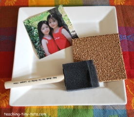 how to decoupage coasters