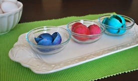 dyed eggshells for mosaic