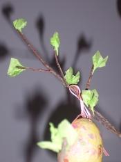 glue on easter tree leaves