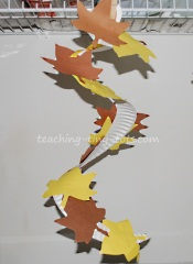 fall leaves paper plate craft