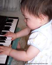 playing the keyboard