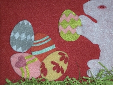 felt bunny close up of eggs step 8