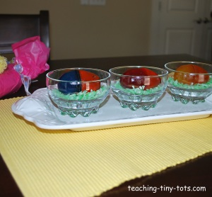 jello two color eggs