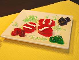 jello eggs using cookie cutters