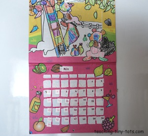 make it yourself sticker calendar