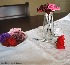 flower pens with message