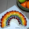 fruit rainbow cake