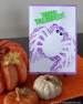 sponge print hallowen card