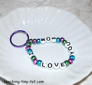 I Love You Mom Keychain or Purse Charm
