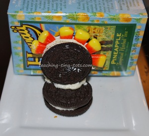oreo turkeys attaching it to the base
