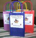colored paper tote favor bags