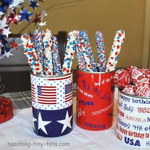 patriotic containers