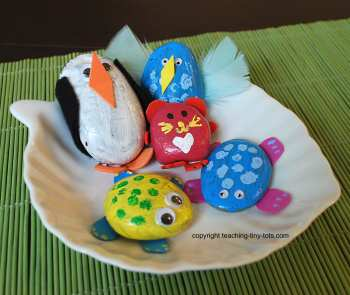 Craft Ideas Rocks on Toddler Activities  Make A Pet Rock Animal Or Creature