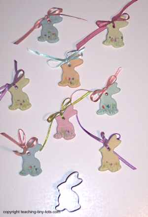 cookie cutter rabbit salt dough