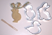 salt dough with cutters and pick