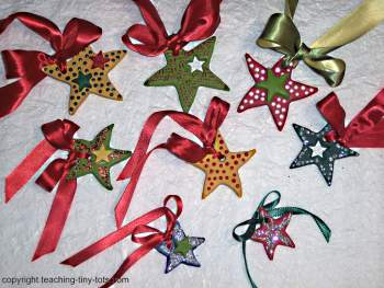 salt dough Christmas stars