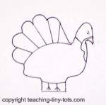 salt dough turkey pattern