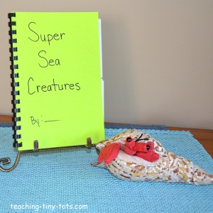 sea creatures flap book