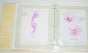 tiny handprints for baby book