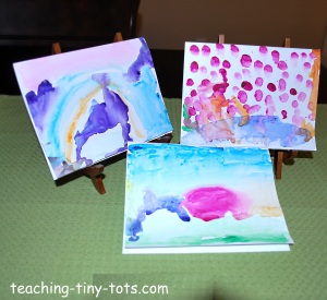 water color painted cards