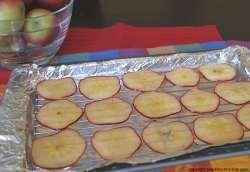 apples on rack