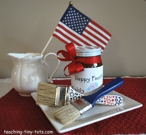 barbecue sauce and baster for Fourth of July