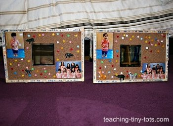 bulletin board with mirror