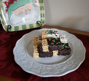 chocolate dipped rice krispies