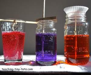 preparing sugar crystals