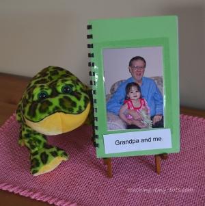toddler made photo book