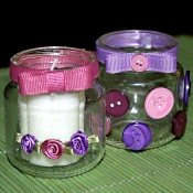 baby jar candle holder