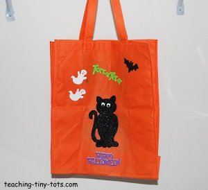decorated halloween bag