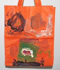 painted halloween treat bag
