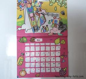 make it yourself sticker calendar