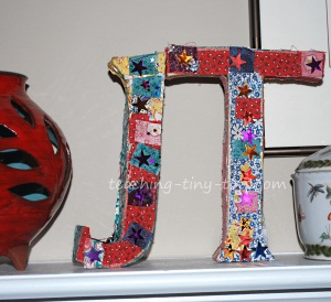 kraft letter ornaments from paper source