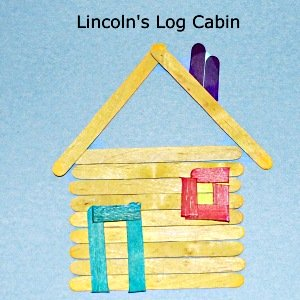 craft sticks to make lincoln's log cabin