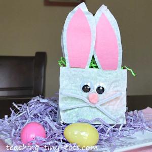 Easter Bunny Lunch Bag Basket