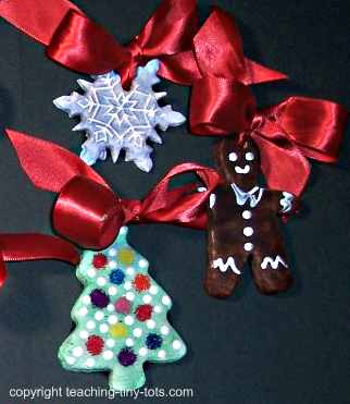 Toddler Activities Christmas Salt Dough Ornaments