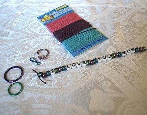 mother's day keychain supplies
