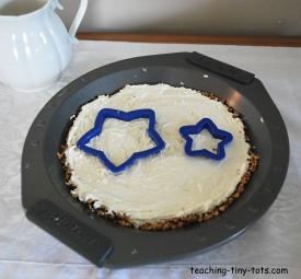 no bake cheesecake with stars