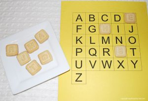 organic cookies alphabet train