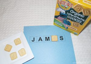 letter cookies spelling name